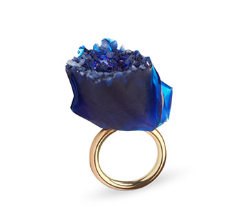 Angela O'Keefe – 'Venice' ring in 9ct yellow gold with salt crystals and resin £340