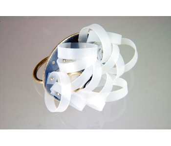 "Annabet Wyndham - ""Recycle"" FlourishRing made from components from previous pieces and recycled plastic £165"