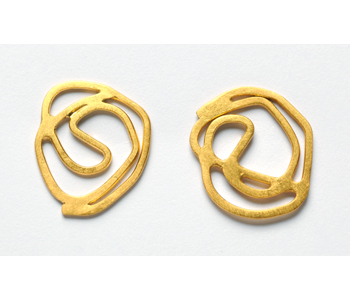 'Swirl' earrings in gold plated silver
