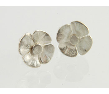 Flower Earrings in silver