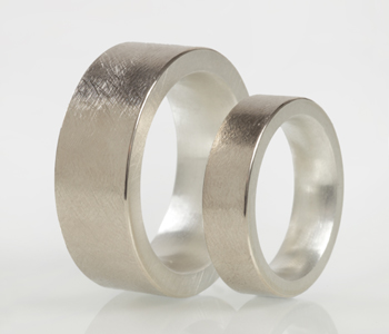 Rings in Silver and 18ct white gold