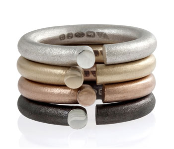 Parody Rings in fair-trade gold, silver and rhodium plated silver