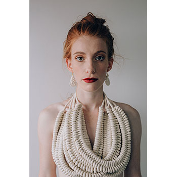 Rope necklaces in recycled 100% cotton yarn