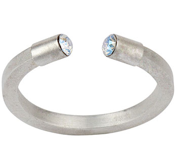 'Hidden Gem' ring in silver plate set with Swarovski crystals