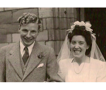 Wedding Day Photograph of Rebecca's grandparents