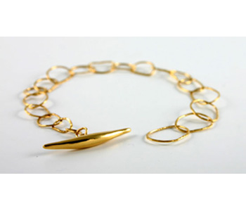 'Quill' bracelet in 9ct yellow gold