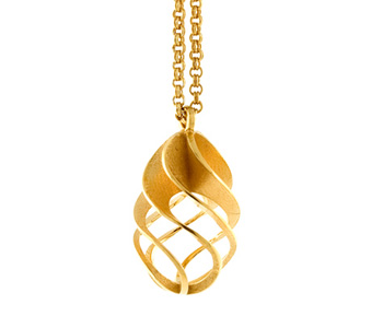 'Twist and Shout Egg' pendant in 18ct gold