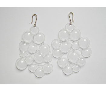 'Freestyle Bubbles' earrings in plastic and nylon