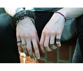 'Urban Degeneration' rings and bangle