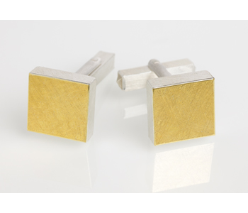 Cufflinks in silver and gold