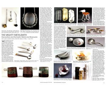 Craft Arts International review of The Mighty Metalsmith