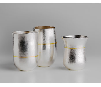 Beakers in silver and 24ct gold